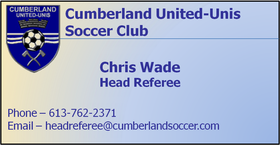 head referee business card