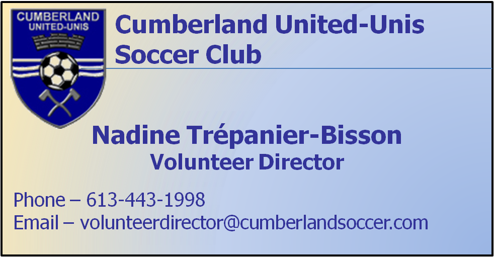 volunteer director business card